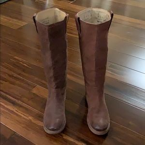 [ FRYE ] CELIA X stitch leather boots